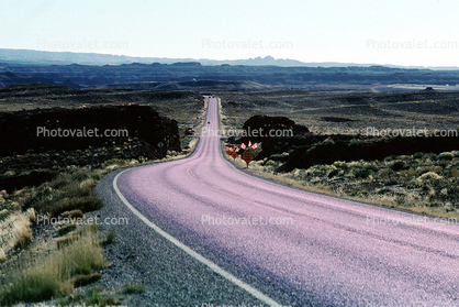 Curve, Turn, Road, Roadway, Highway 163, Monument Valley, Arizona