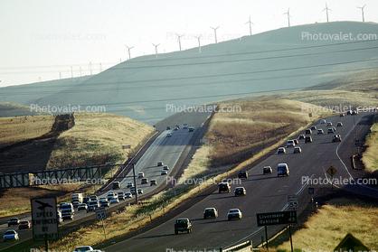 car, sedan, automobile, vehicles, Interstate Highway I-580, heading