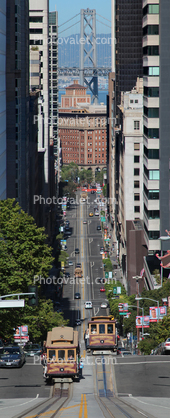 Nob Hill incline, California Street