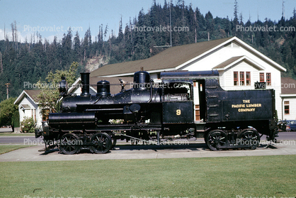 The Pacific Lumber Company 9, 2-truck Heisler locomotive, Scotia, Humboldt County