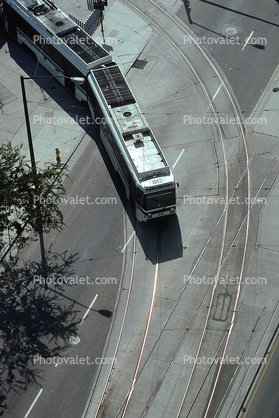 Railroad Track Curve, San Jose, Electric Trolley
