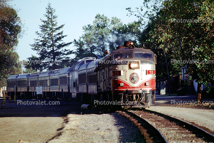 NVR 72, MLW ALCO FPA4, Wine Train, Diesel Electric Locomotive, Napa Valley Railroad, trainset