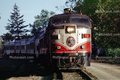 NVR 72, MLW ALCO FPA4, Wine Train head-on, Diesel Electric Locomotive, Napa Valley Railroad