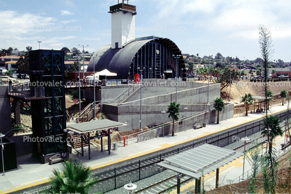 Coaster Train, Solana Beach station, Quonset hut