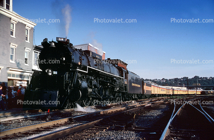 CO 614, Chessie System, Northern 4-8-4, Chesapeake & Ohio, J-3-A, 1950's