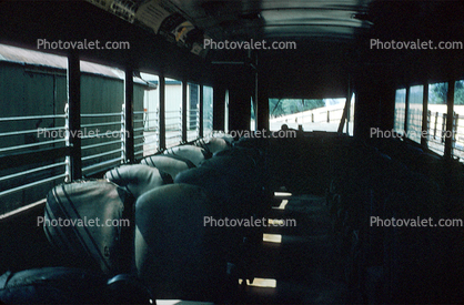 empty seats, Passenger Railcar, 1957, 1950's