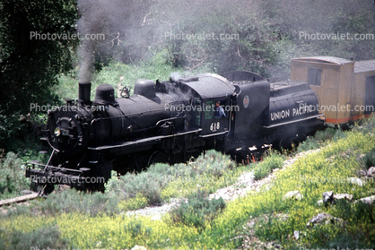 UP 618, BLW 2-8-0, Union Pacific, Heber Valley Railroad