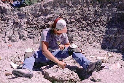 Maiasaurus excavation, Badlands, Montana