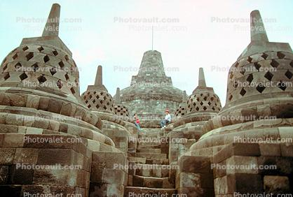 Borobudur Temple, near Magelang, Central Java, Monument, landmark, shrine, UNESCO World Heritage Site, Yogyakarta