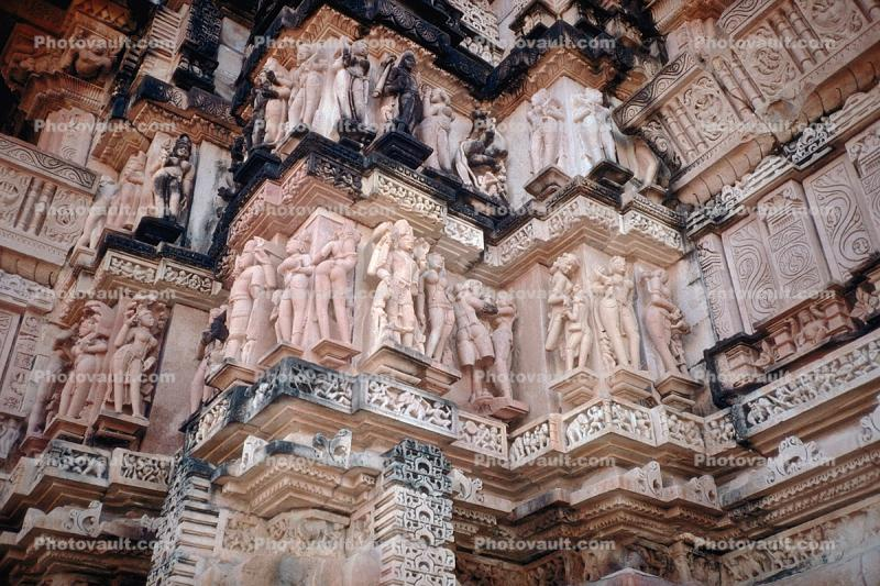 Erotic bar-Relief Carvings, Sun Temple, Konarak, Orissa, 1950's