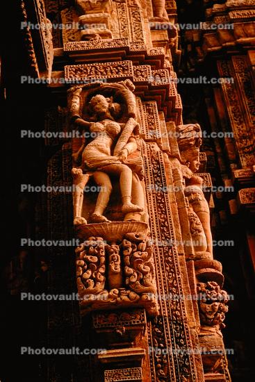 Erotic Statue, Sculpture, Carving, Sun Temple, Konarak, Orissa, 1950s