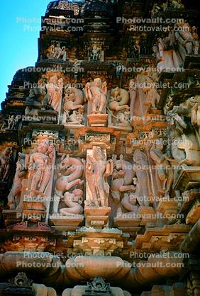 Erotic Carvings, Khajuraho, Madhya Pradesh, Temple
