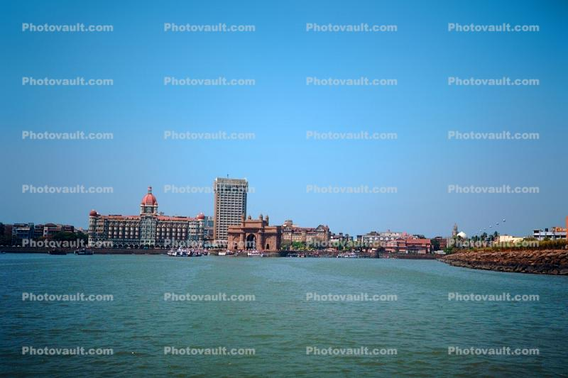 India Gate, buildings, skyline, Taj Mahal Hotel