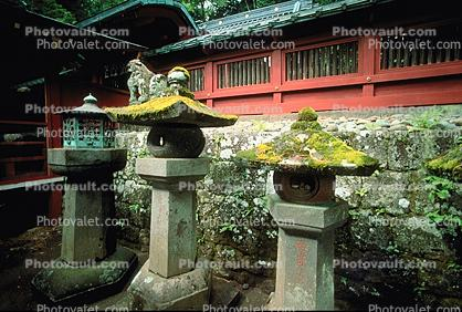 Stone Lanterns, Buddhist Temple, shrine, Buddhism, Dharmic, Dharma, Building, Nikko