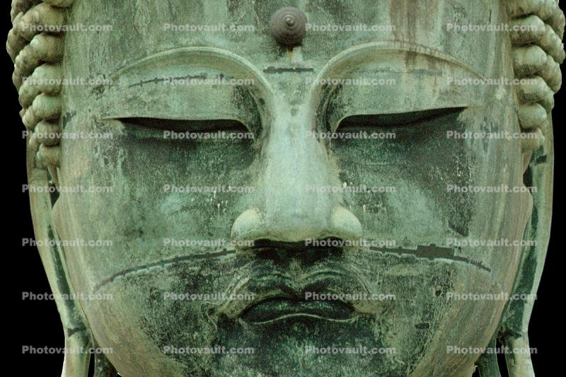 The Buddha at Kamakura, Kanagawa Prefecture, Japan, Statue, Buddha's Eyes