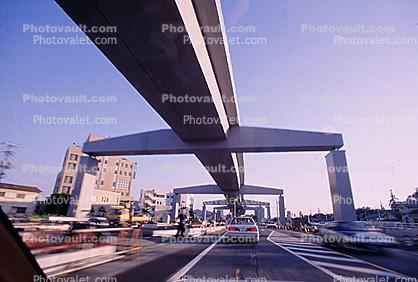 Freeway Overpass, Cars, automobile, vehicles