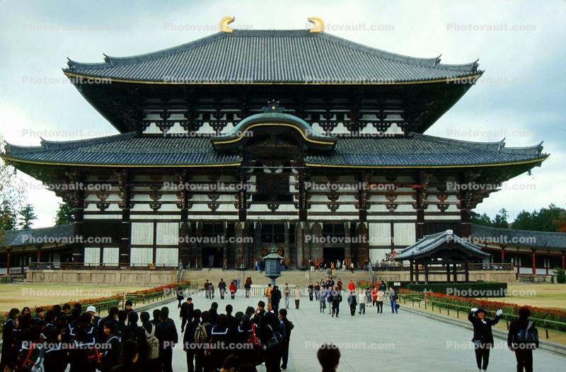 Great Buddha Hall, Todai-ji, Temple, largest wooden building, Nara