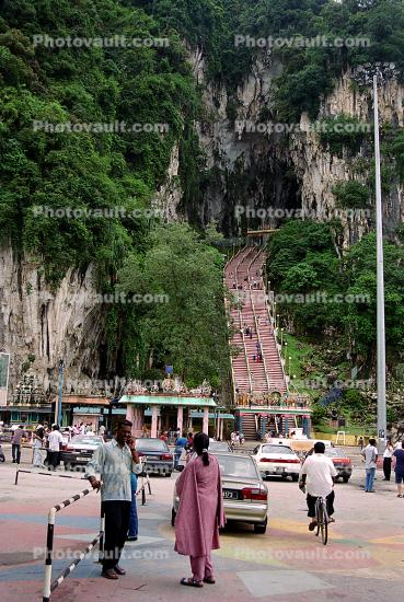 Batu Caves, Stairs, Hindu shrine, Batumalai Sri Subramaniar Swamy Devasthanam