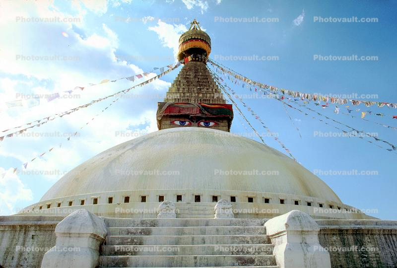 Stupa Boudhanath, Dome, Sacred Place, Buddhist Shrine, temple, building, Kathmandu
