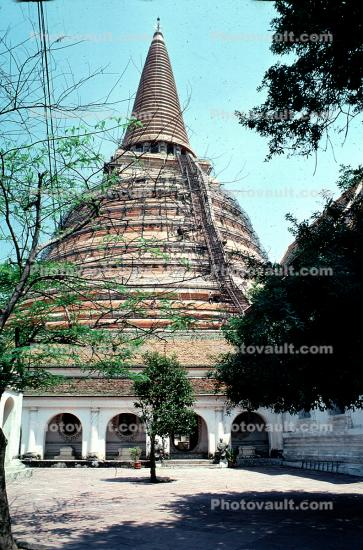 Temple, Stupa, Dome, Sacred Place, Buddhist Shrine, building