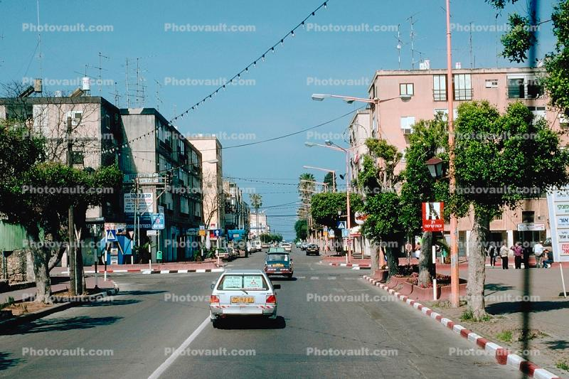 Highway, cars, buildings, automobile, vehicles, Acre, Akko