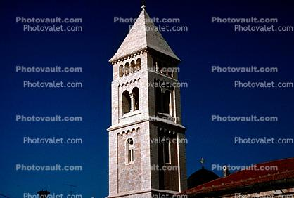 Redeemer's Church, Lutheran Church Tower, square, pyramid roof, The Old City Jerusalem