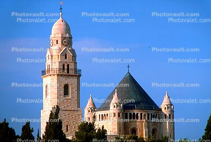 Church of the Dormition of the Virgin Mary, Bell Tower, The bell tower of Dormition Abbey, Mount Zion, Jerusalem