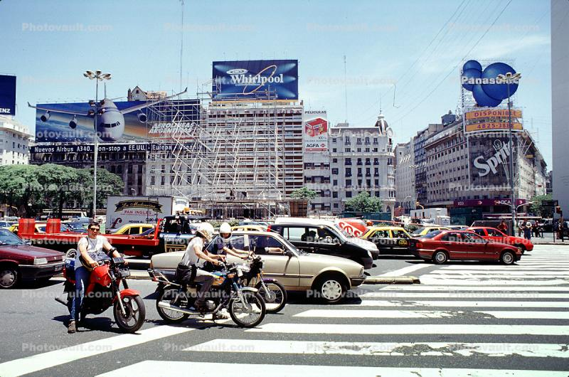 Crosswalk, Cars, Buenos Aires, automobile, vehicles