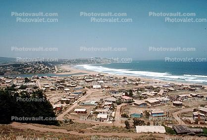 Beach, Waves, Pacific Ocean, Beach, Cape, Homes, Houses