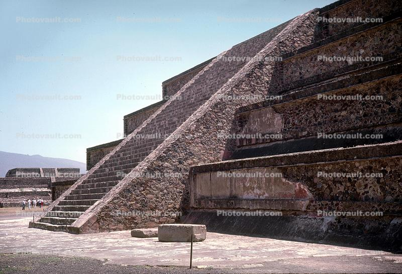 Pyramid, Stairs, Steps, Teotihuacan, Hidalgo, 1950s