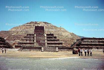 Pyramid of the Sun, Teotihuacan, Hidalgo, 1950's