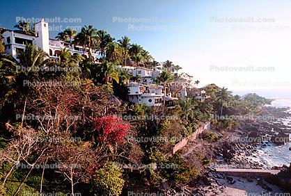 Cliff Hanging Architecture, Time Lapse with the next image, Puerto Vallarta