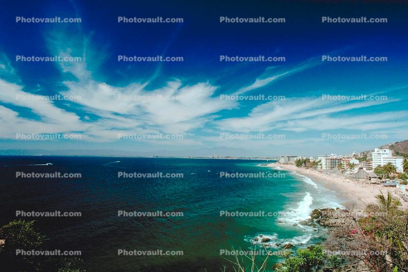 Beach, Pacific Ocean, Clouds, Puerto Vallarta