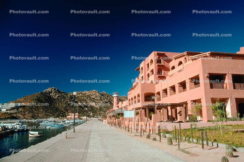 Waterfront, Harbor, Building, Boardwalk, Boats, Cabo San Lucas