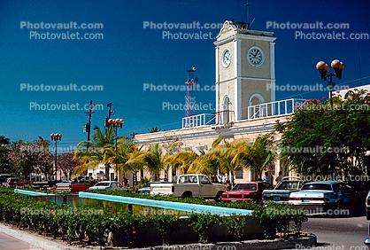 Clock Tower, Cars, Cabo San Lucas