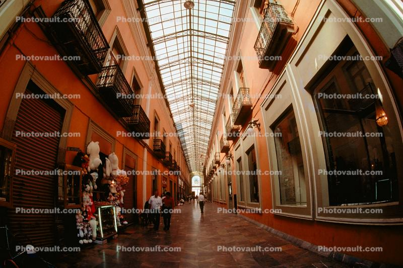 Galleria, Vanishing Point, Hall, Hallway, People, Stores, Building, Glass