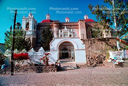 Colonial Church constructed from stones of The Palace, Mitla