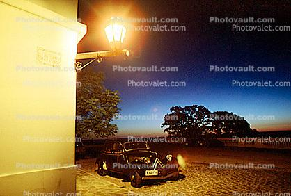 Outdoor Lamp, Cobblestone Street, Sidewalk, Building, Colonia