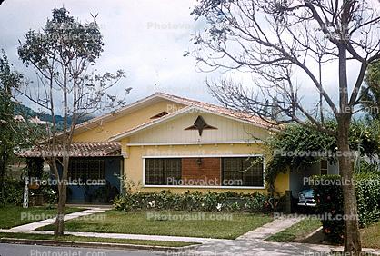 single story house, Building, home, single family dwelling unit, residence, Caracas, Venezuela, 1950s