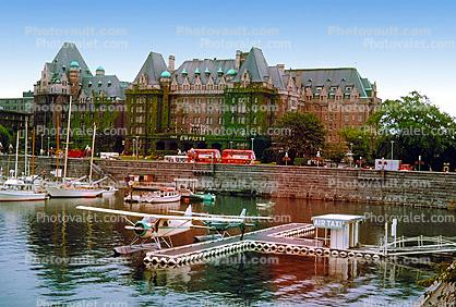 Air Taxi, Docks, Floatplane, DHC-2 Beaver, coastal, waterfront, Empress Hotel, Harbor, Victoria