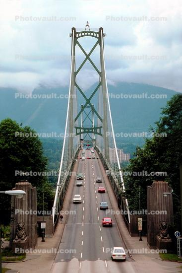 Vancouver, Lions Gate Bridge, First Narrows Bridge, Highways 99 and 1A, suspension bridge