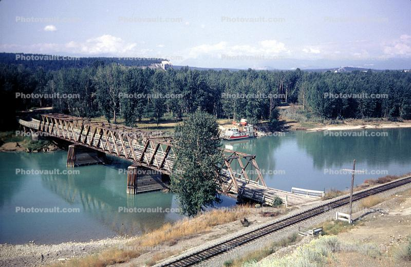 Truss Bridge, Kooteny River, near Fort Steele, Railroad Tracks