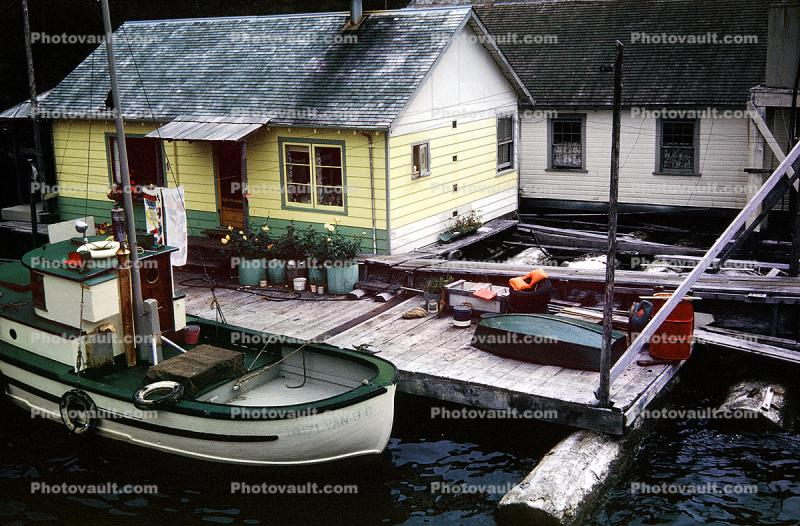 Dock, Building, Boat, Nootka Sound