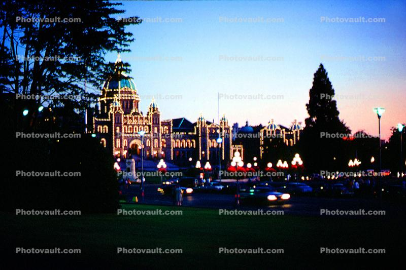 Fairmont Empress Hotel, Night, Nighttime, Victoria