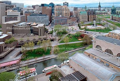 Rideau Canal, waterway, buildings, boats, cityscape, skyline