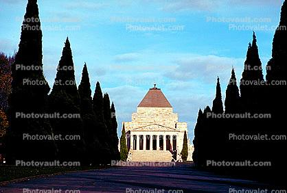 Melbourne War Memorial, Pyramid Building, Shrine of Remembrance, famous landmark
