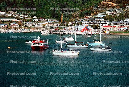 Harbor, town, buildings, waterfront, boats