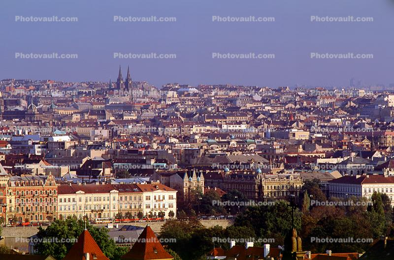 Skyline, buildings, Prague