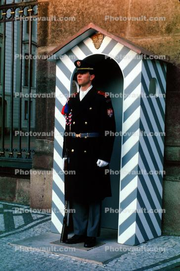Soldier, Guard, Guardhouse, Hradcany, Castle, Prague
