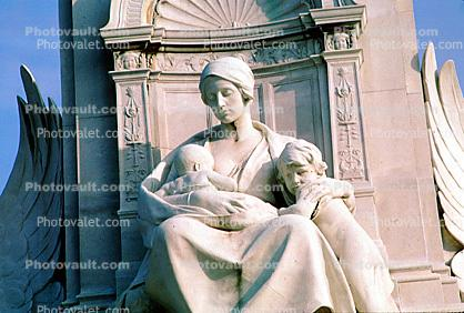 Charity, Victoria Memorial, London, White Marble